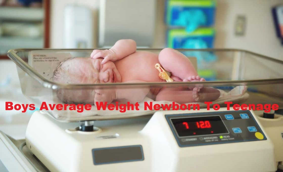 Boys Average Weight Newborn To Teenage